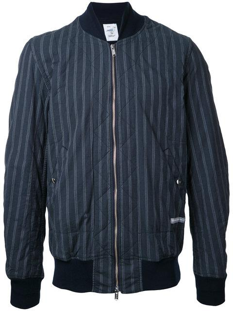 Undercover Striped Bomber Jacket - Blue