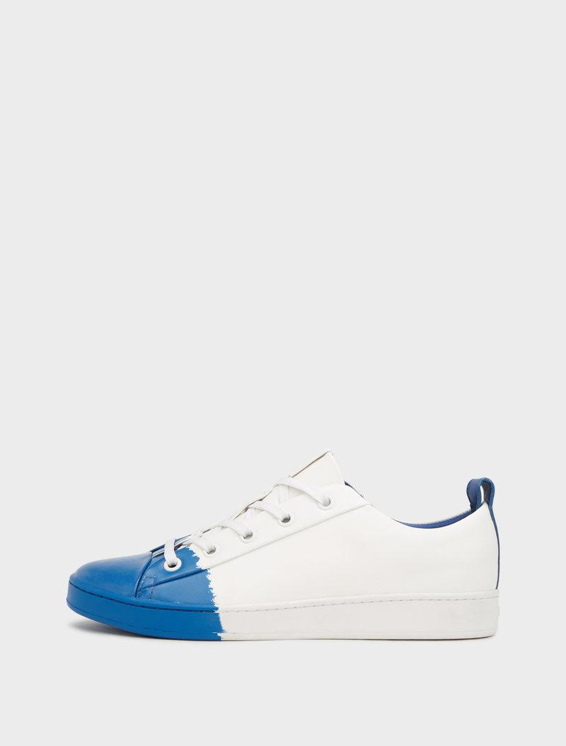 Dkny Brayden Luxe Classic Court Sneakers In White