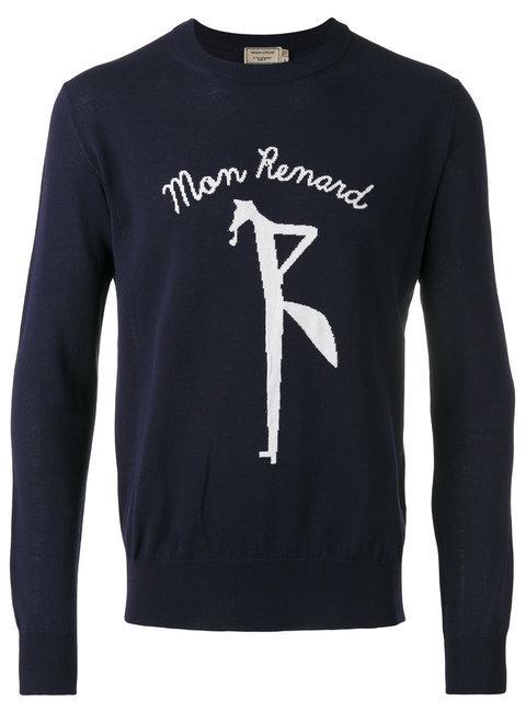 Maison KitsunÉ Mon Renard Pullover In Blue