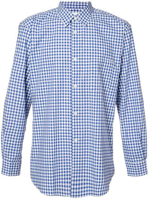 Comme Des GarÇons Shirt Checked Shirt In Blue