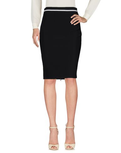 Mugler Knee Length Skirt In Black