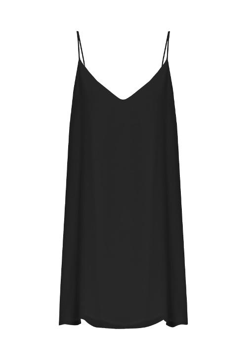 Raey Deep-v Silk Slip Dress In Black
