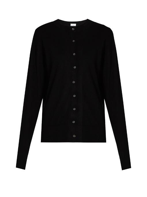 Raey Slim-fit Cashmere Cardigan In Black