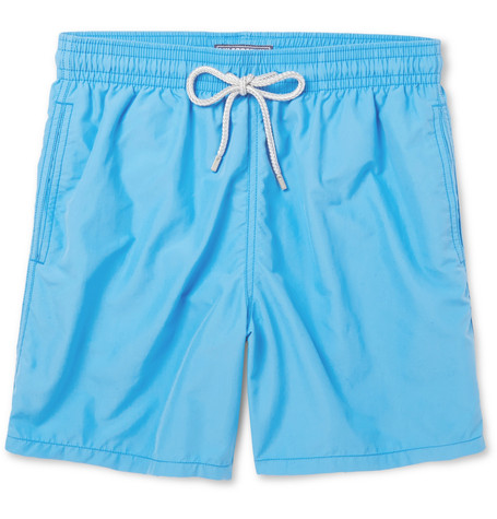 Vilebrequin Embroidered Bear Moorea Swim Shorts In Blue