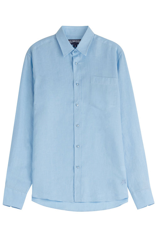 Vilebrequin Linen Shirt In Blue