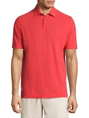 Vilebrequin Swiss Jersey Chrysanthe Polo In Poppy Red