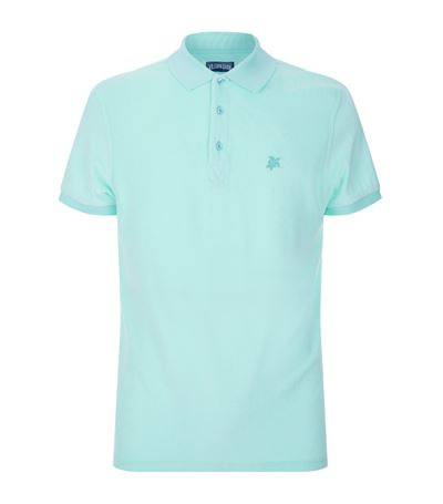 Vilebrequin Pacific Cotton-blend Terry Polo Shirt In Turquoise