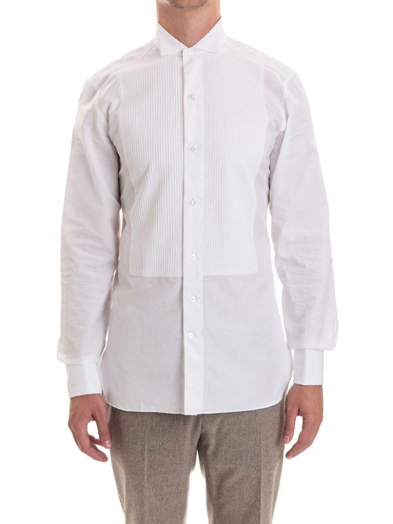 Ermenegildo Zegna Tuxedo Shirt Cotton In White