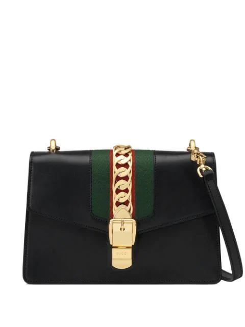 Gucci Sylvie Tote Bag In Black