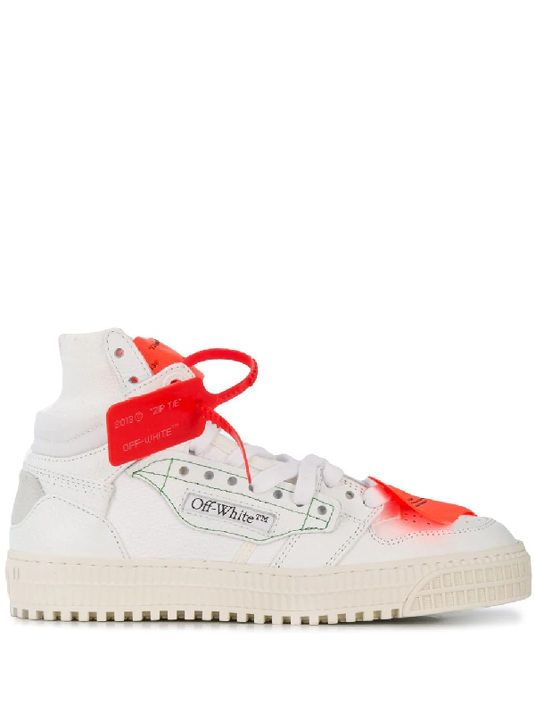 Off-white 20mm 3.0 Leather & Mesh High Top Sneaker In White