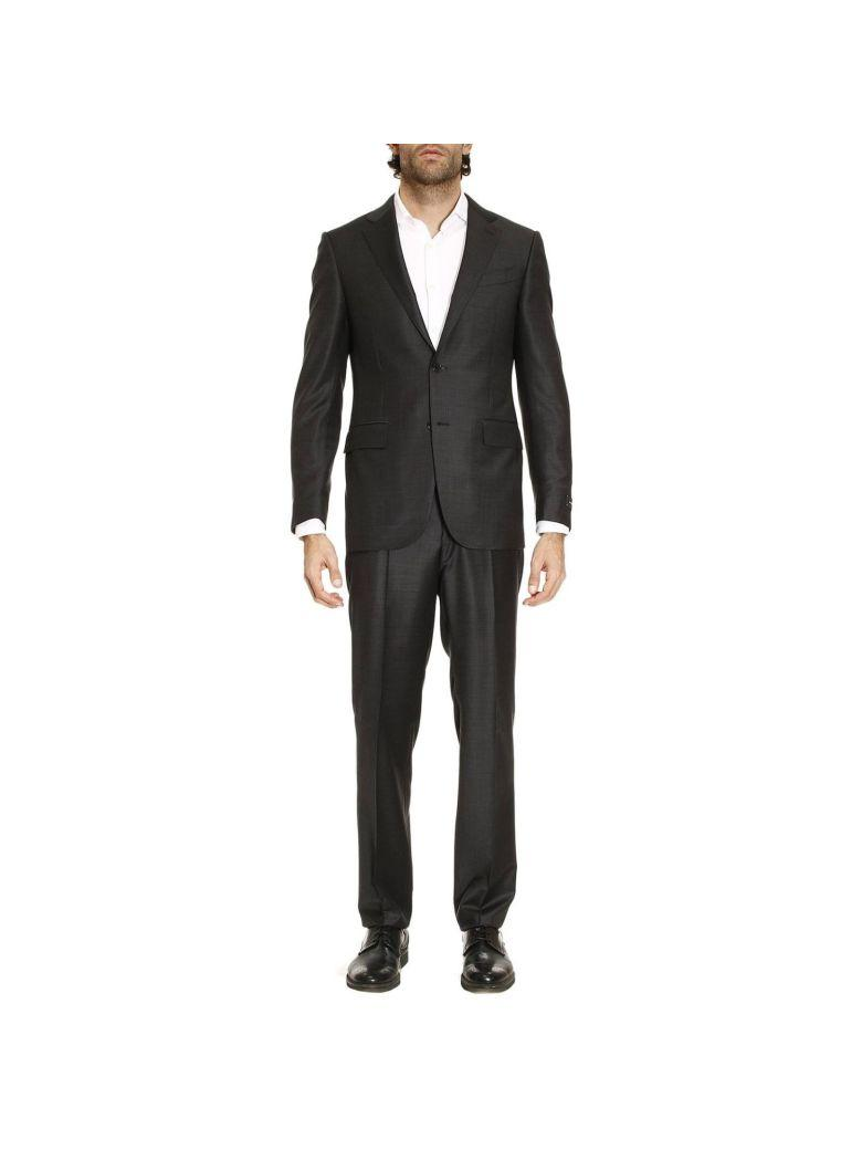 Ermenegildo Zegna Suit Suits Men  In Charcoal