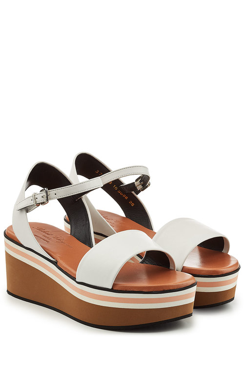 Robert Clergerie Leather Sandals In White