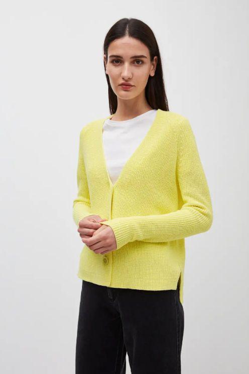 Armedangels Nuriaa Lime Cardigan In Yellow