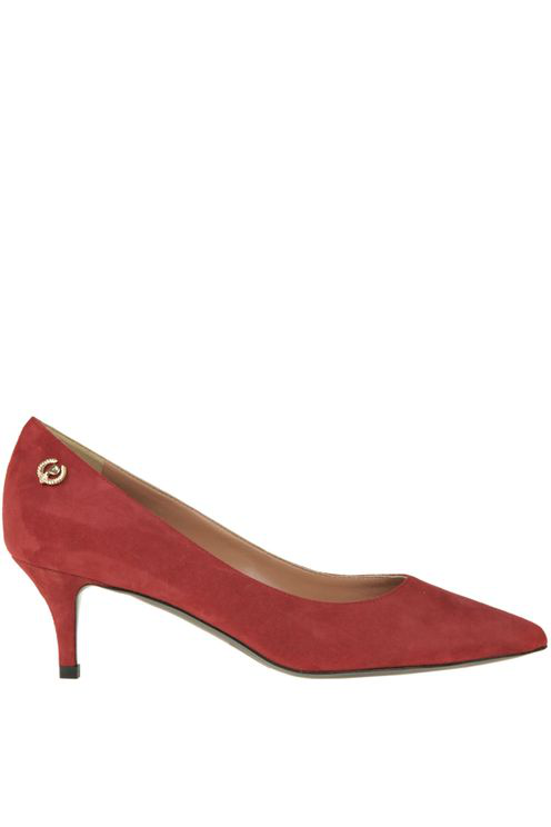 Pollini Suede Pumps In Red