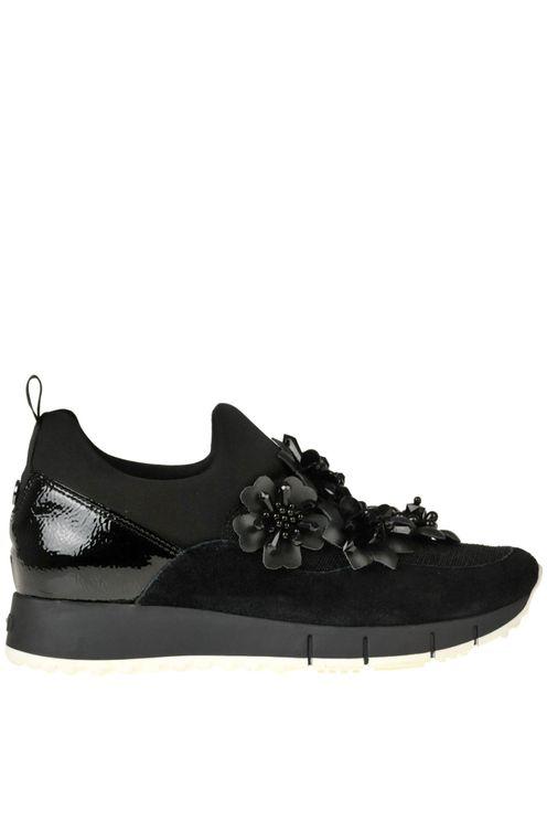 Liu •jo Gigi 3 Embellished Slip-on Sneakers In Black