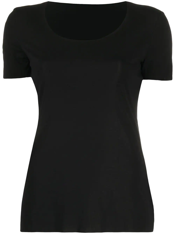 Wolford Sustainable  Aurora Pure T-shirt In Black