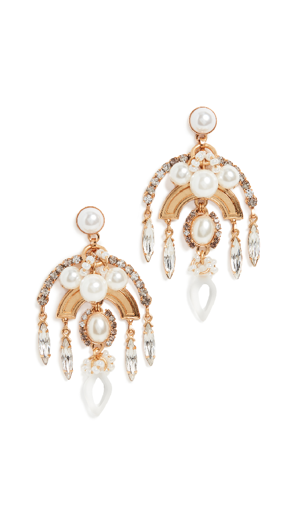Elizabeth Cole Danna Earrings In Pearl