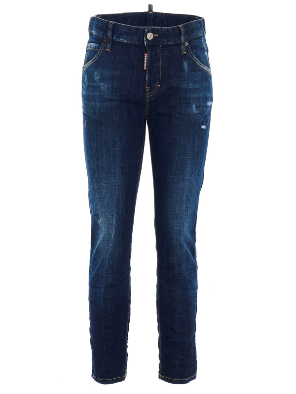 Dsquared2 Cool Girl Cropped Blue Jeans