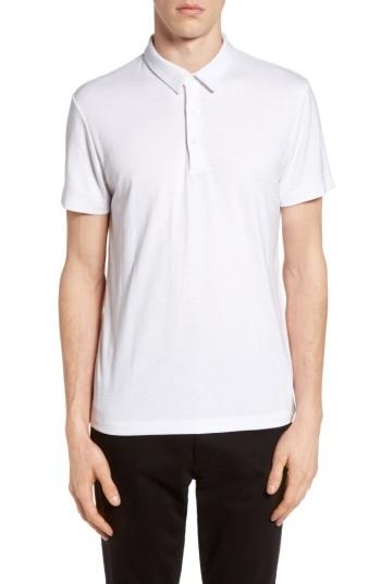 Theory Bron Slim Fit Polo In White