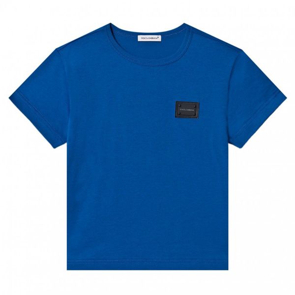 Dolce & Gabbana Kids' Dolce & Gabbana Cotton T-shirt In Blue
