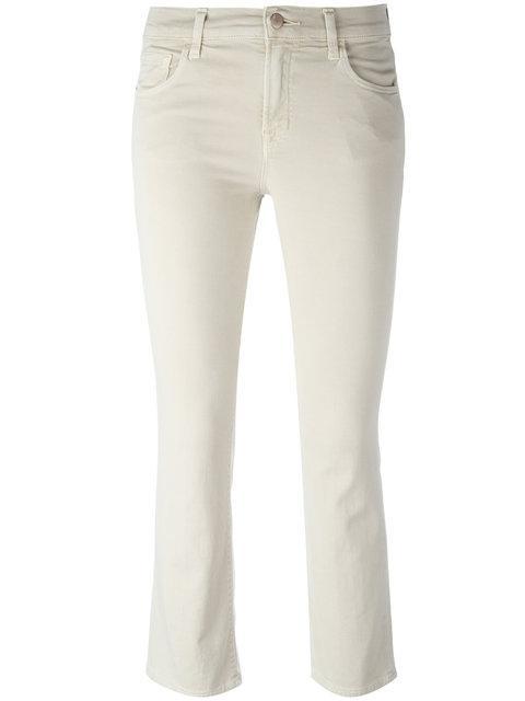 J Brand Selena Kick Flare Jeans In Neutrals