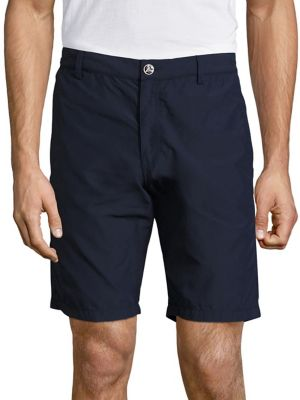 Vilebrequin Straight Fit Solid Bermuda Shorts In Navy