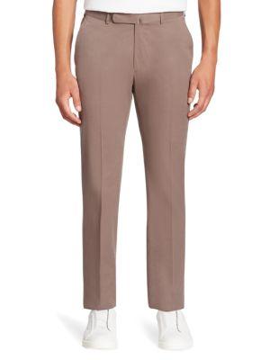 Ermenegildo Zegna Cashco Solid Trousers In Brown