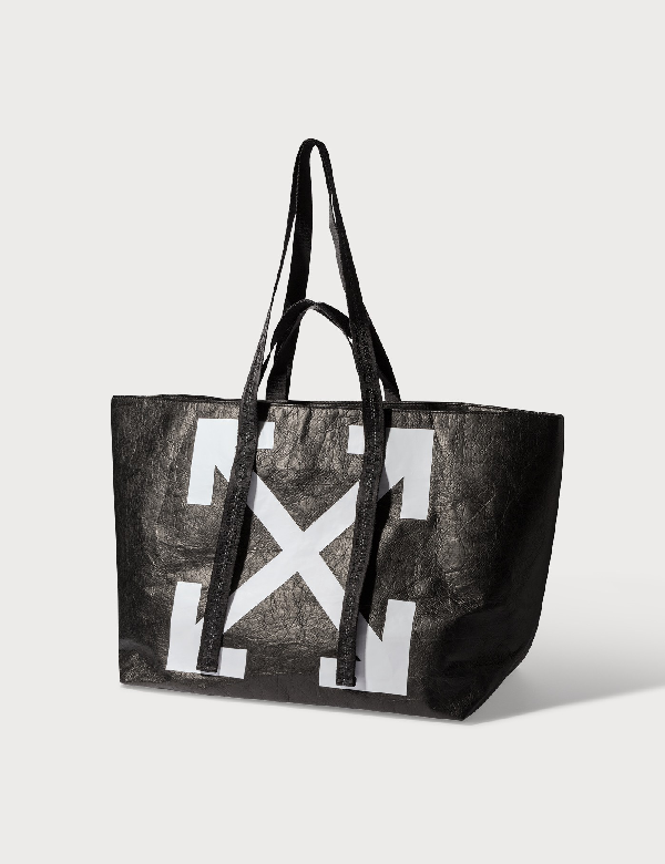 Off-white Tote Bag With Arrows Logo In Black