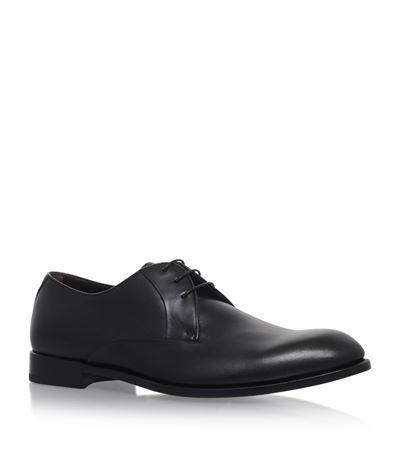 Ermenegildo Zegna Avenue Flex Derby Shoes In Black