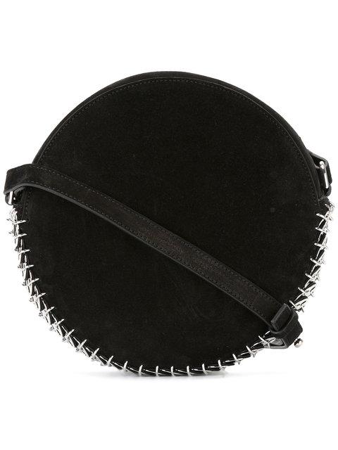 Paco Rabanne Circular Shoulder Bag In Black