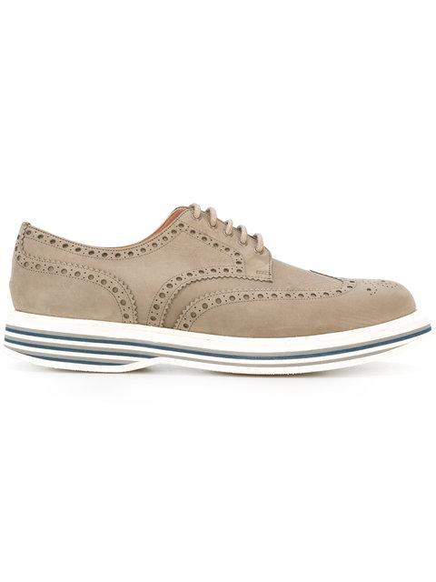 Church's Striped Heel Derby Shoes - Grey