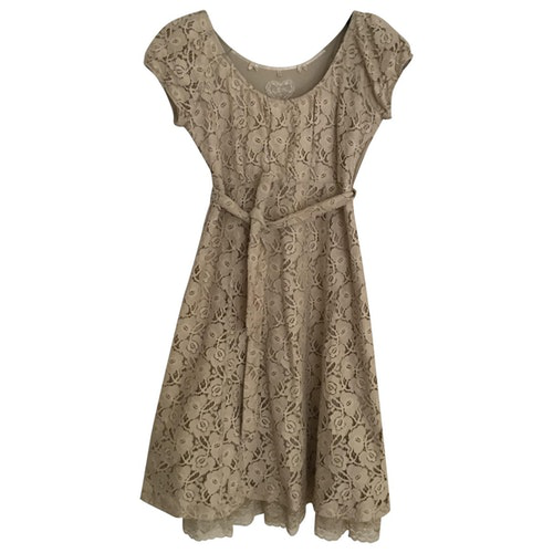 Pre-owned By Timo Beige Cotton Dress