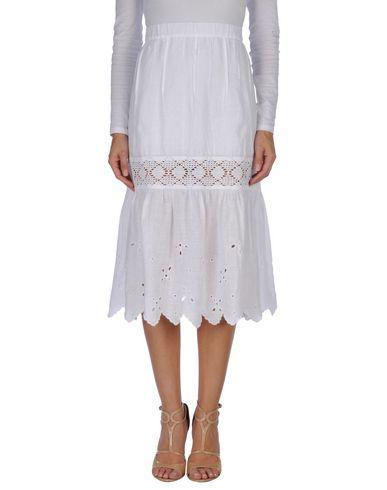 120% Lino Midi Skirts In White