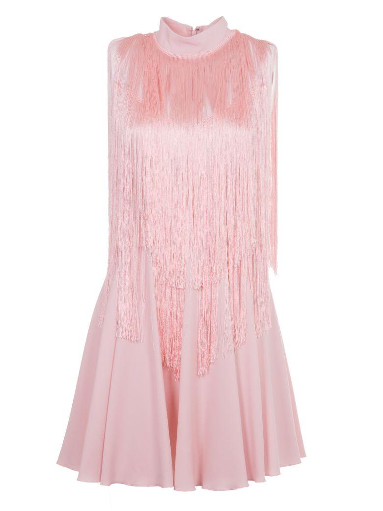 Giamba Pleated Trim Dress In Pink