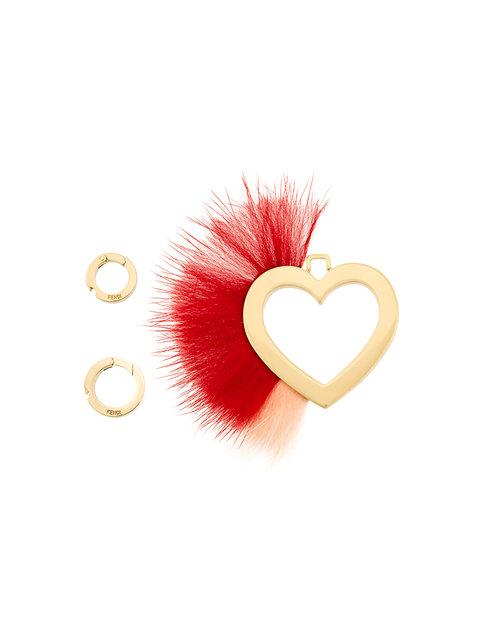 Fendi Heart And Feather Pendant - Yellow