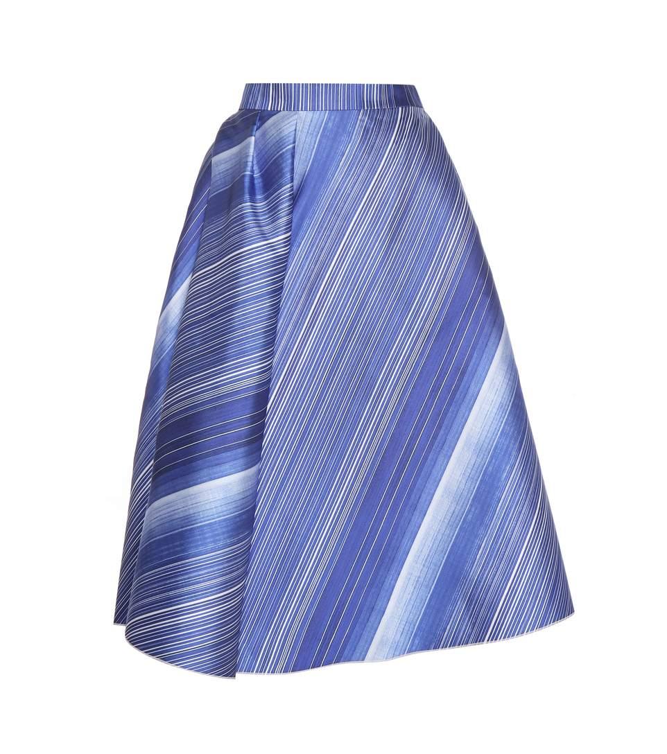 Vika Gazinskaya Printed Skirt In Blue