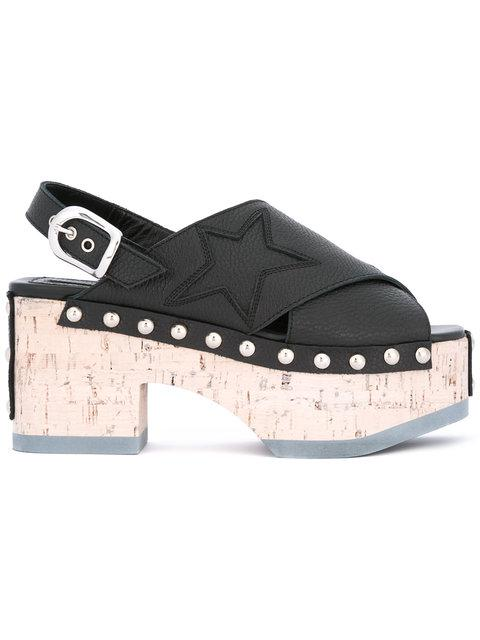Mcq By Alexander Mcqueen Mcq Alexander Mcqueen Solstice Black Leather Sandal In Nero