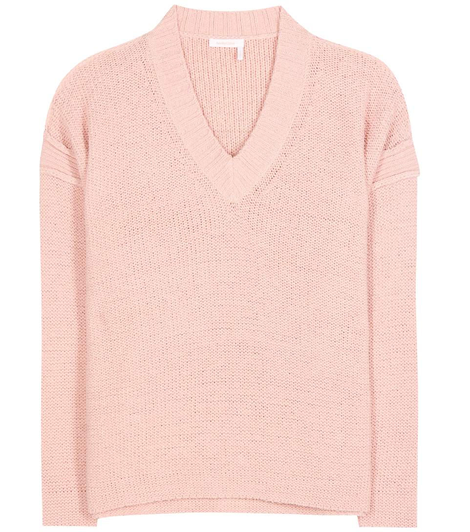 See By ChloÉ Cotton-blend Sweater In Pink
