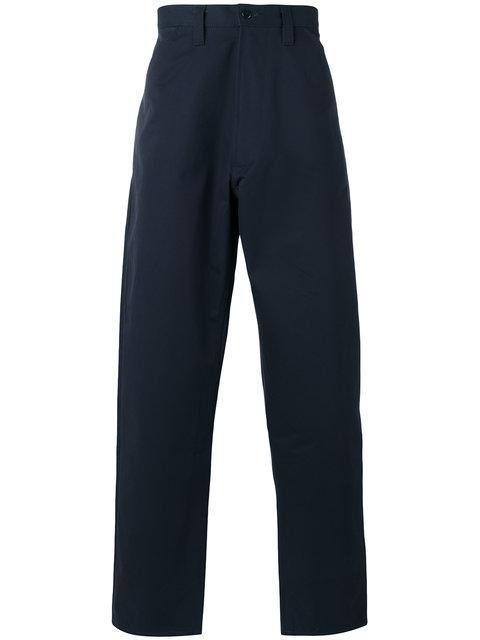 E. Tautz Chore Trousers In Blue