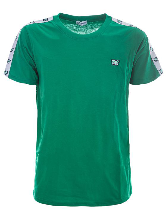 Nr Green Tshirt With Side Bands