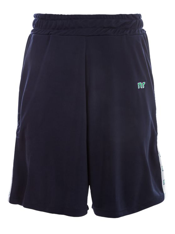 Nr Black Bermuda With Side Bands In Blue