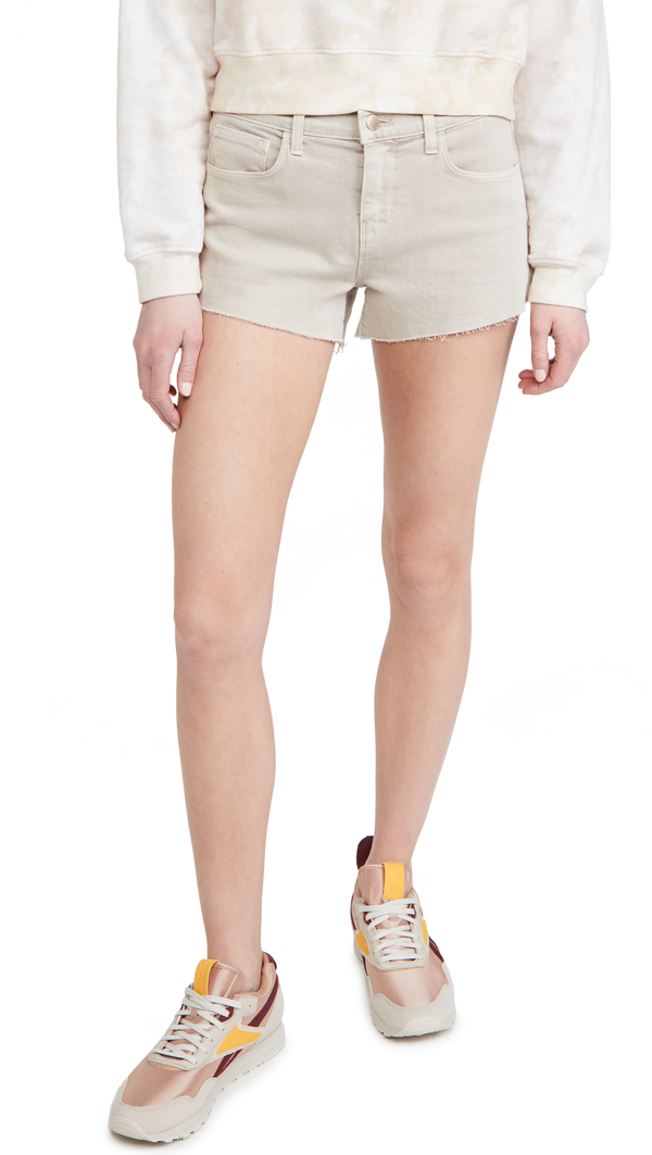 L Agence Women's Audrey Mid-rise Shorts In Biscuit