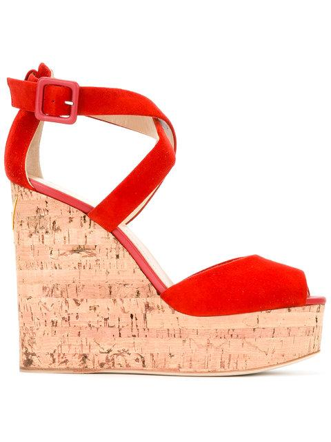 Giuseppe Zanotti Design Wedge Sandals - Red