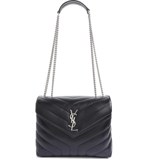 Saint Laurent Small Loulou Matelasse Leather Shoulder Bag In Noir
