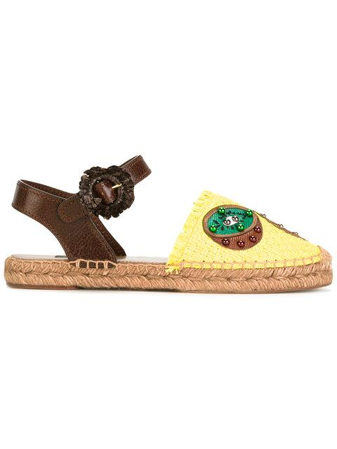 Dolce & Gabbana Pineapple & Kiwi Patch Espadrilles