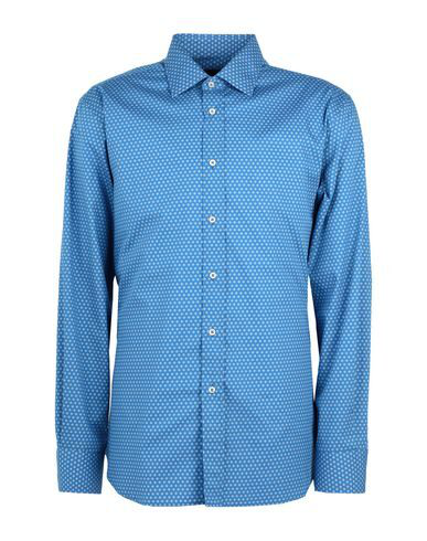Luchino Camicie Patterned Shirt In Pastel Blue