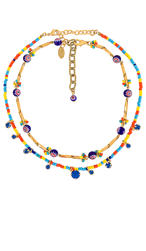 Elizabeth Cole Ivey & Alicia Necklace Set In Frida