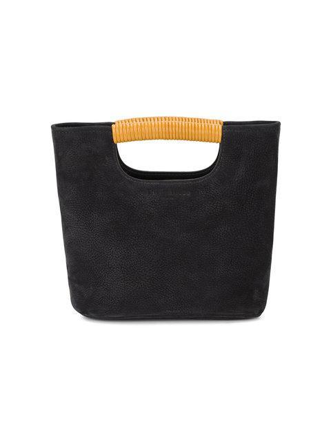 Simon Miller Black Birch Mini Suede Tote Bag