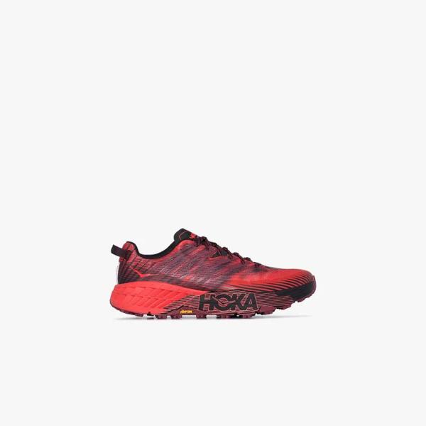 Hoka One One Speedgoat 4 Low-top Sneakers In Red
