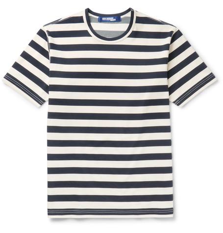Junya Watanabe Striped Cotton-blend Ponte De Roma T-shirt